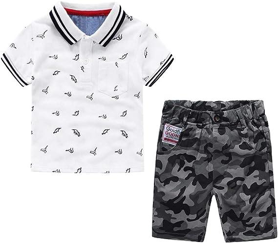 Nwada Conjuntos de Ropa para Niño Polos Camisetas y Pantalon Corto ...