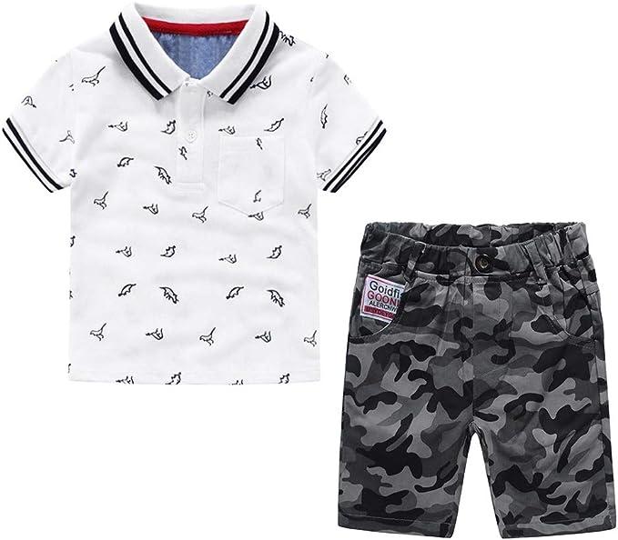 Nwada Conjuntos de Ropa para Niño Polos Camisetas y Pantalon Corto Niño Pequeño Trajes 18 Meses a 7 Años: Amazon.es: Ropa y accesorios