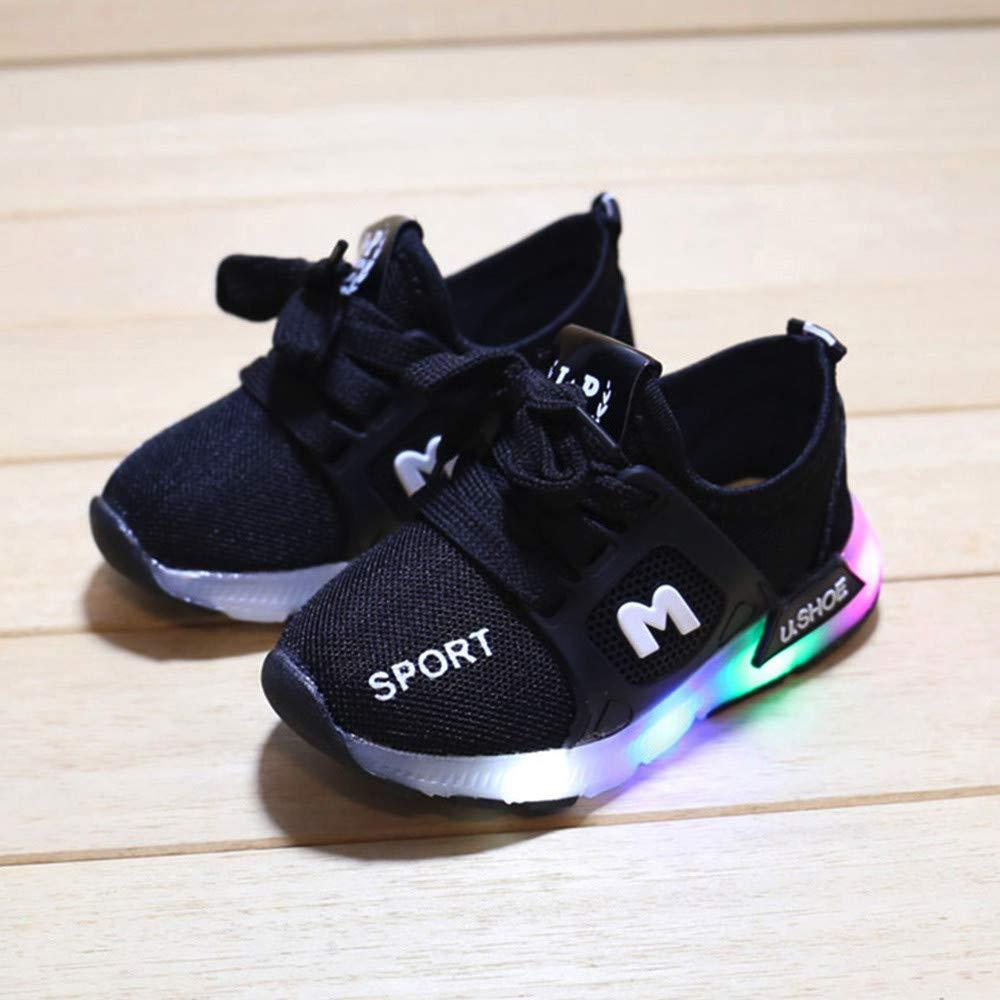Kids Boys Girls Luminous Outdoor Sports Running Casual Shoes Suma-ma Toddler Babys Mesh Led Light Sneakers