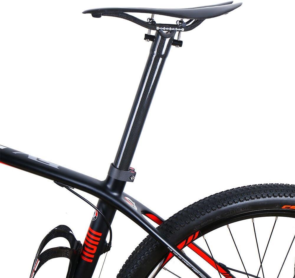 TOSEEK Carbon Fiber 3K MTB Mountain XC Road Bike Seat post Bicycle Seatpost Tube