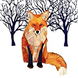Paperproducts Design Winter Solstice Fox Beverage Cocktail Paper Napkin, Multi-Color, 20-Pack