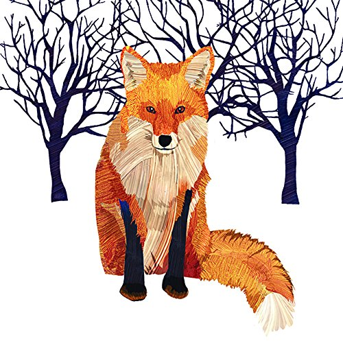 (Paperproducts Design Winter Solstice Fox Beverage Cocktail Paper Napkin, Multi-Color, 20-Pack)