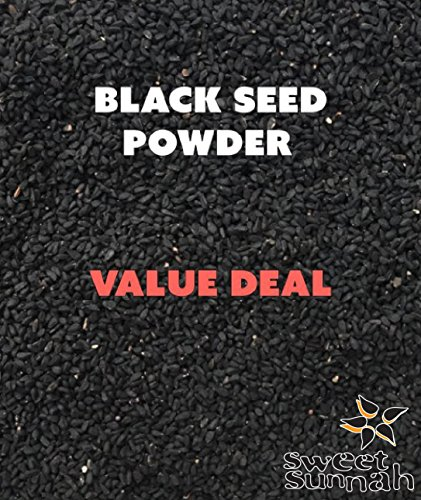 Sweet Sunnah's Black Seeds, Black Cumin seeds, (Nigella Sativa) Powder (GROUND) 1 Pound ()