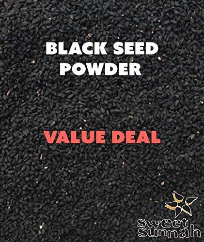 Sweet Sunnah's Black Seeds, Black Cumin seeds, (Nigella Sativa) Powder (GROUND) 1 Pound