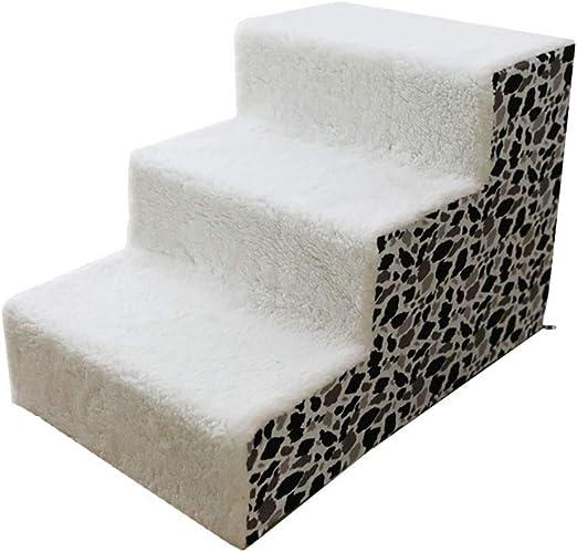 Esponja Escalera para mascotas Gato/Perro Escalera para perros de 3 pasos para mascotas Gato escalada Rampa Cojín para cojín de escalera para cama alta Sofá extraíble 2 estilos 60x40x40cm Antideslizan: Amazon.es: Productos