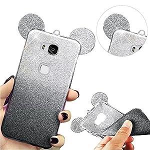 MOMDAD Huawei Honor 5X Coque Etui pour Huawei Honor 5X Coque de Protection en TPU avec Absorption de Choc Coque en Gel TPU pour Huawei Honor 5X Souple Coque Étui Housse Téléphone Couverture