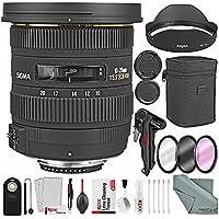 Sigma 10-20mm f/3.5 EX DC HSM Autofocus Zoom Lens For Nikon DSLRs and Bundle w/Remote + Xpix 2-in-1Tripod + Deluxe Xpix Cleaning Kit + More