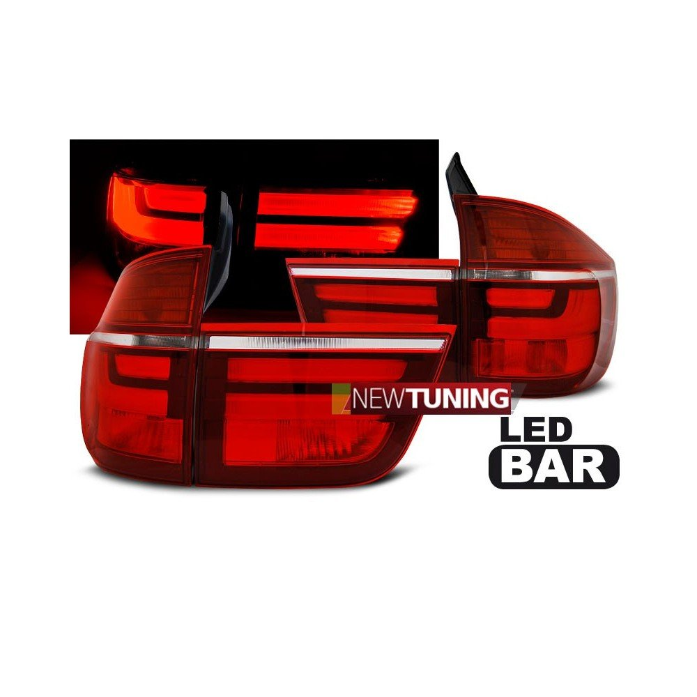 /05.10/rojo color blanco LED Luz trasera BMW X5/E70/03.07/