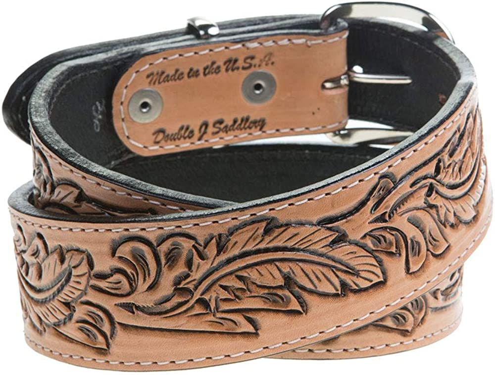 Nrs Womens Natural Feather Tooled Belt