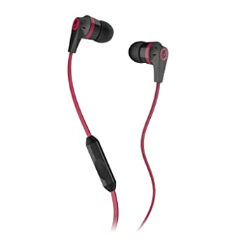 Skullcandy Headset S2IKDY 010 Earphone with Mic [Red and Black]