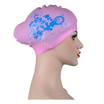 57980e24 Gorros de natación de silicona para adultos, mujeres, hombres, niñas, niños,