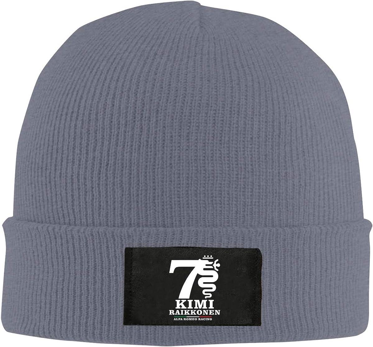 TIMMEAGE Kimi Raikkonen Alfa Romeo Racing Knitting Hat Warm Winter Hedging Caps