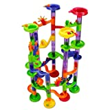 Beby Marble Run Game 105 Piece Race Set for Kids Toddlers Learning Construction Toys