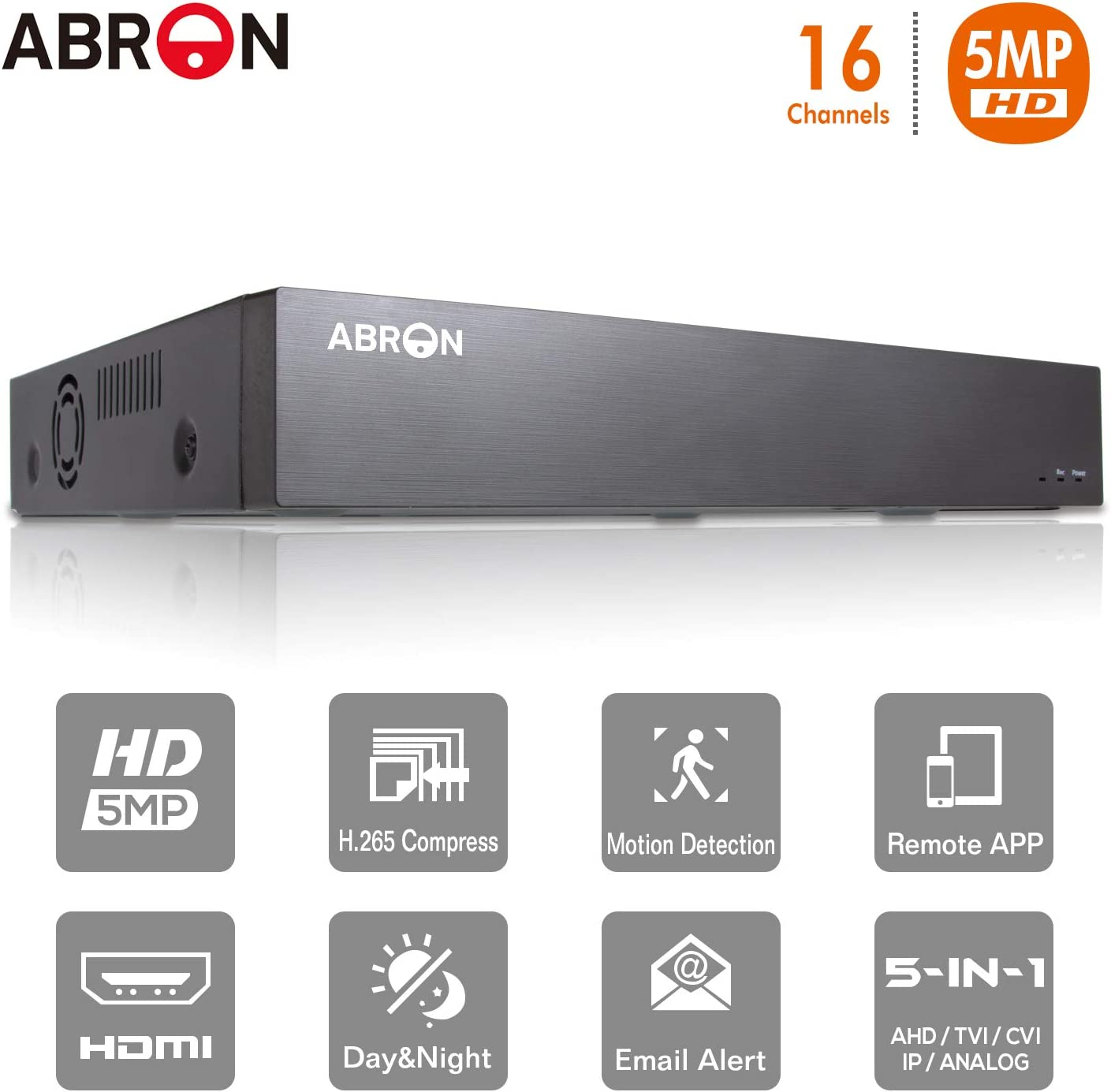 16-Channel 720P/1080P/3MP/4MP/5MP/6MP/8MP/4K Supports up to 16 x ...