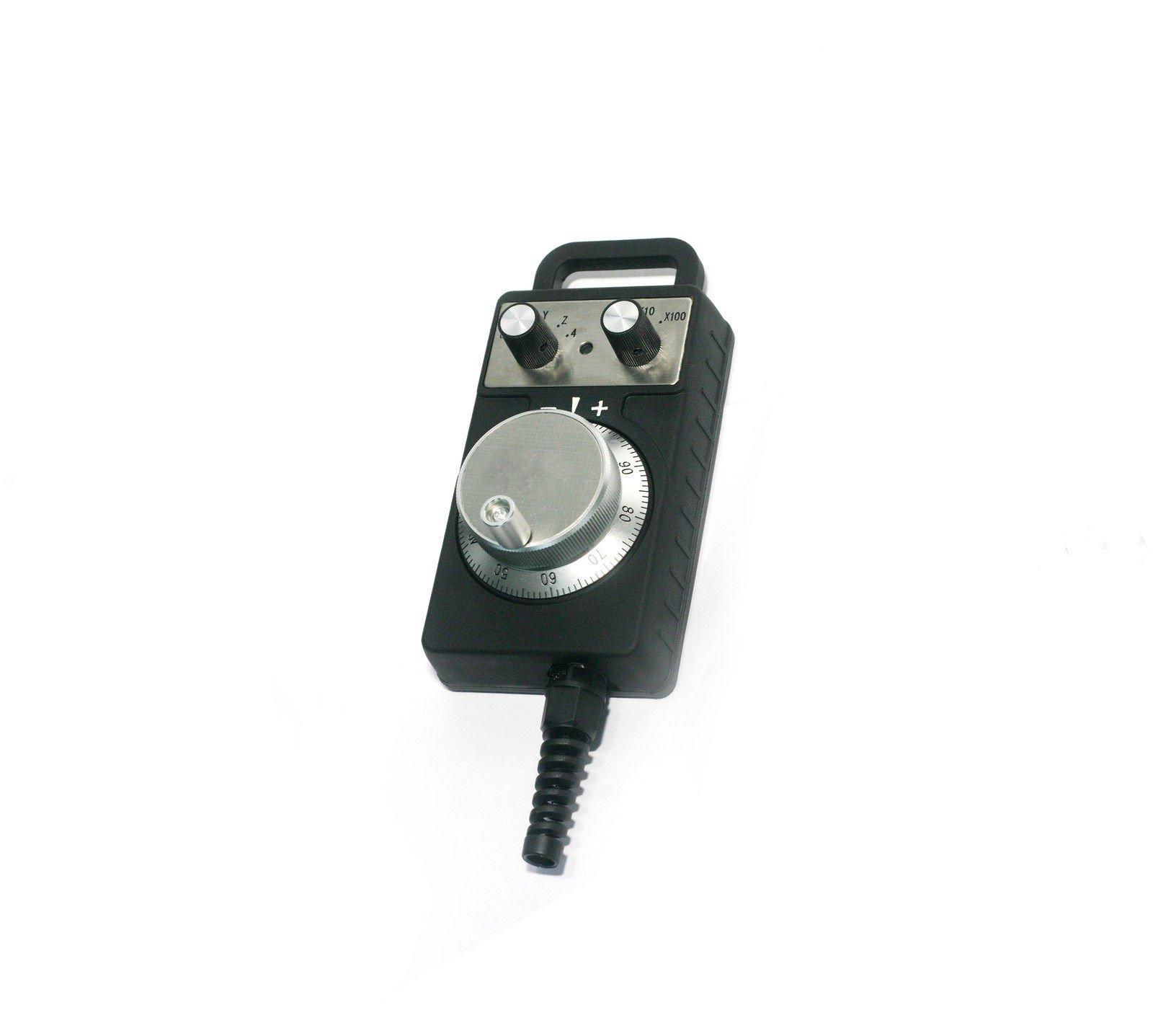 Handy Pulser MPG Handwheel 4 Axis DC5-15V 100PPR Emergency Stop Enabling Switch