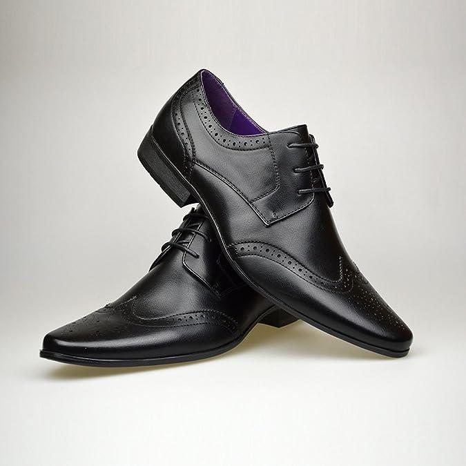 Robelli - Zapatos de cordones de Piel para hombre Negro negro DoOEVV