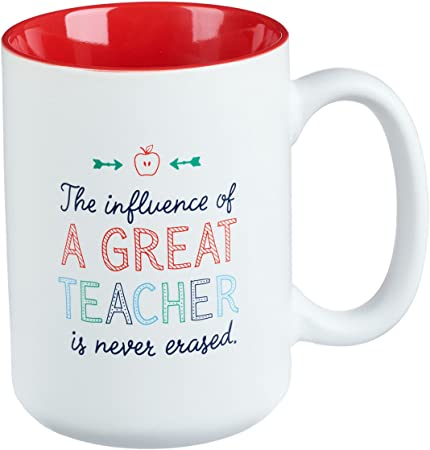 Great Teacher Coffee Mug – White & Red Ceramic Coffee Cup