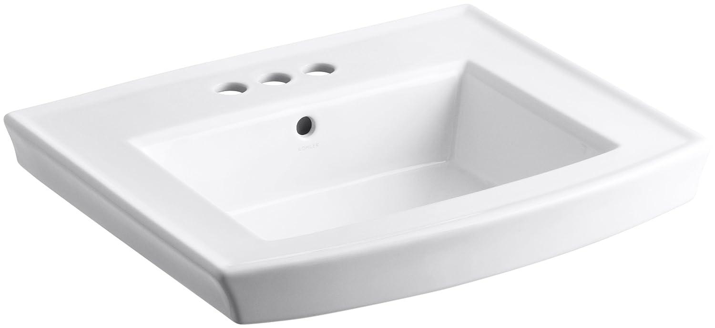 KOHLER K-2358-4-0 Archer Pedestal Bathroom Sink Basin with 4-Inch ...