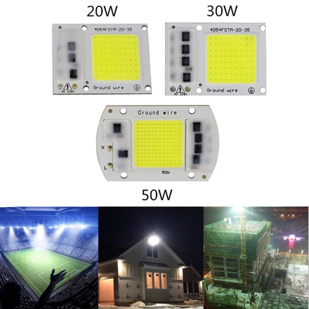 RONSHIN 15W//20W//30W//50W LED Drive-Free COB Chip Lamp 220V 15W Warm Light