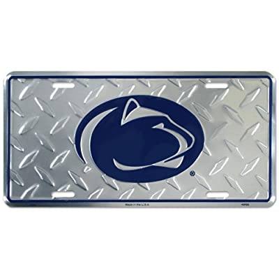 Penn State Diamond License Plate Tin Sign 6 x 12in: Sports & Outdoors