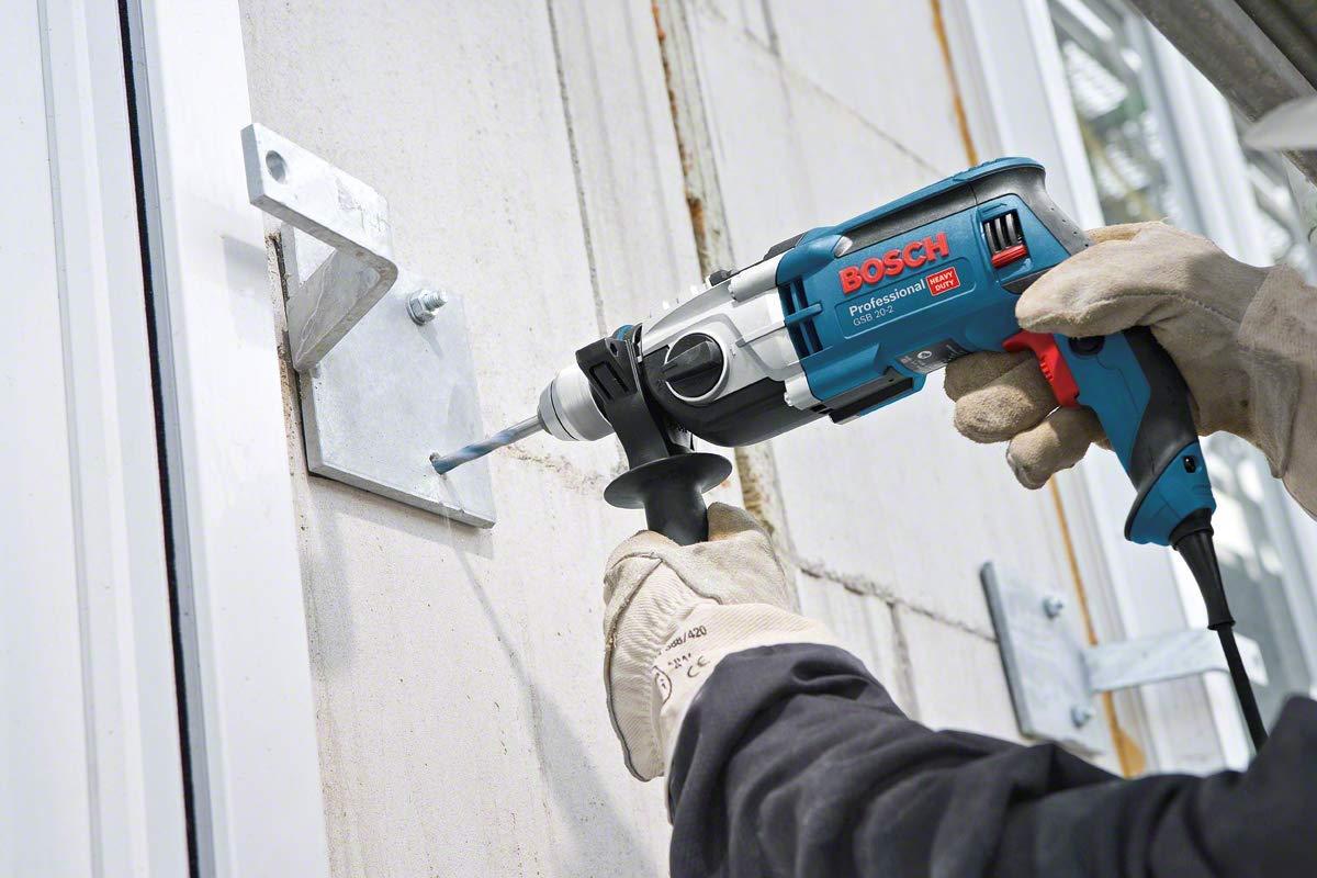 Taladro de percusi/ón Bosch Professional GSB 19-2 RE 2 velocidades 230 V Bosch Home and Garden 2 607 010 543 Bosch Professional-Juego de 7 Brocas Multiuso