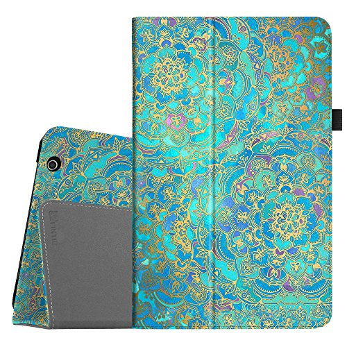 Fintie Folio Case for Dragon Touch V10 10-Inch Android Tablet, Slim Fit Premium PU Leather Stand Cover with Stylus Holder, Shades of Blue