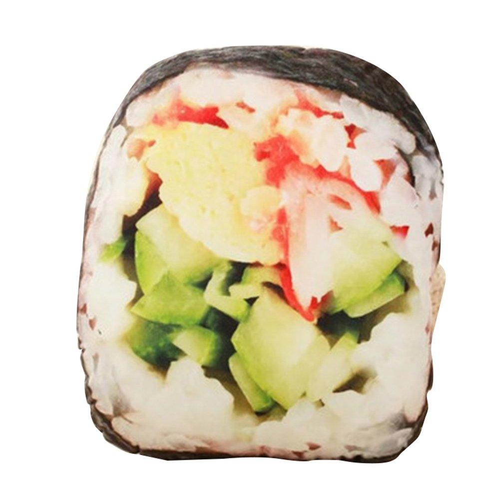 3D Creative Simulational Pillow Plush Steak Sushi Egg Tart Shape Plush Foody Cushion Pillow