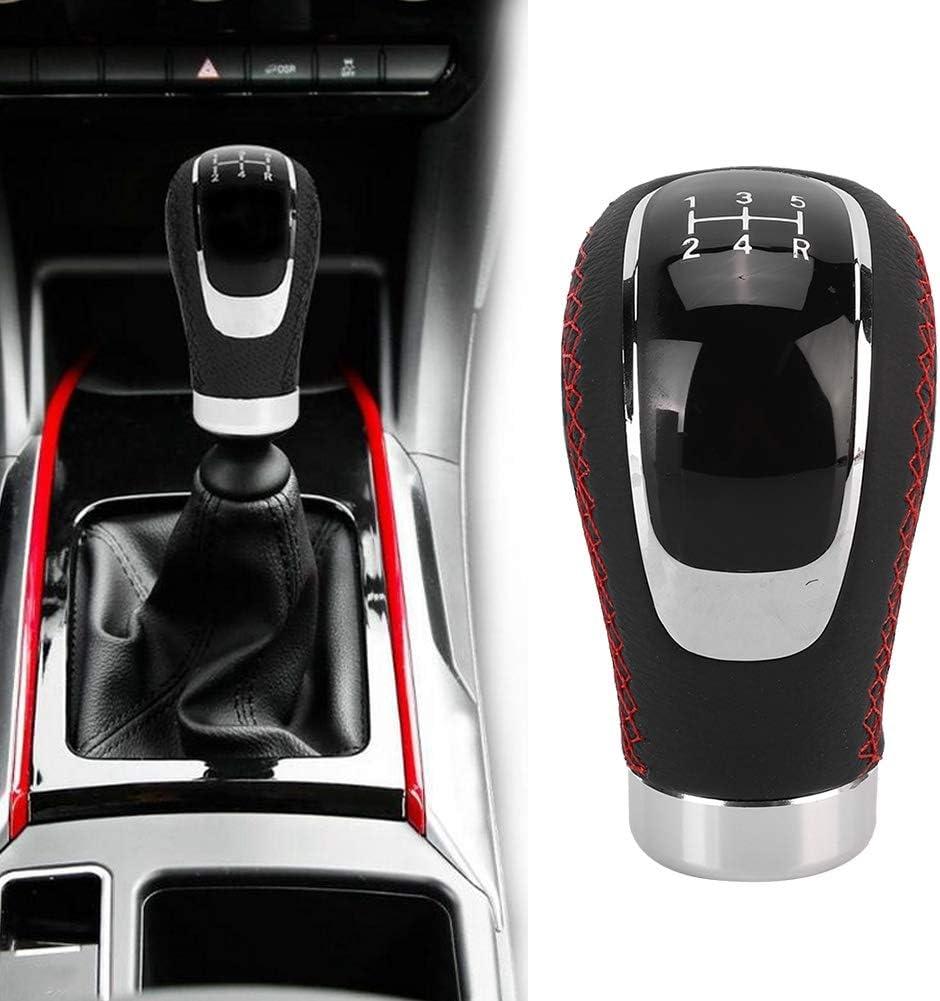 Akozon Gear Shift Knob Universal Aluminum 5 Speed Car Manual Gear Shift Knob Head Shifter Lever Black
