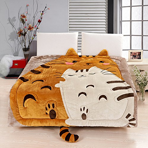 MeMoreCool Upgrade Flannel Totoro Bed Cover,Cute