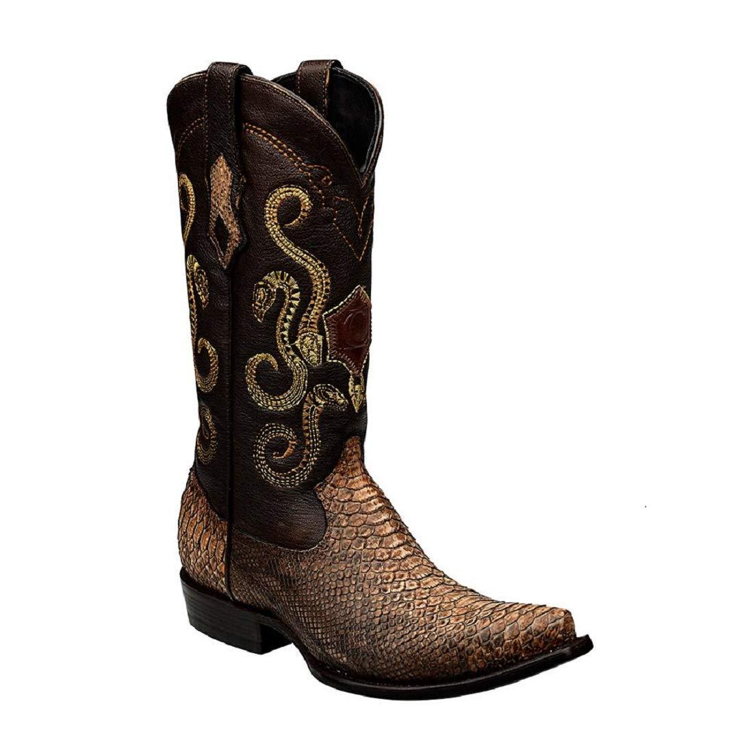 01909adaa8b Amazon.com | Cuadra Python Western Boots | Western