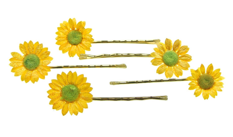 clarigo, Haarnadeln, Haarklammern, Haarklemmen, Sonnenblume , Hochzeit, Kommunion, Blumen, Blume