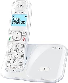 Teléfono Inalámbrico- Alcatel XL280- Color Blanco: Amazon.es: Electrónica
