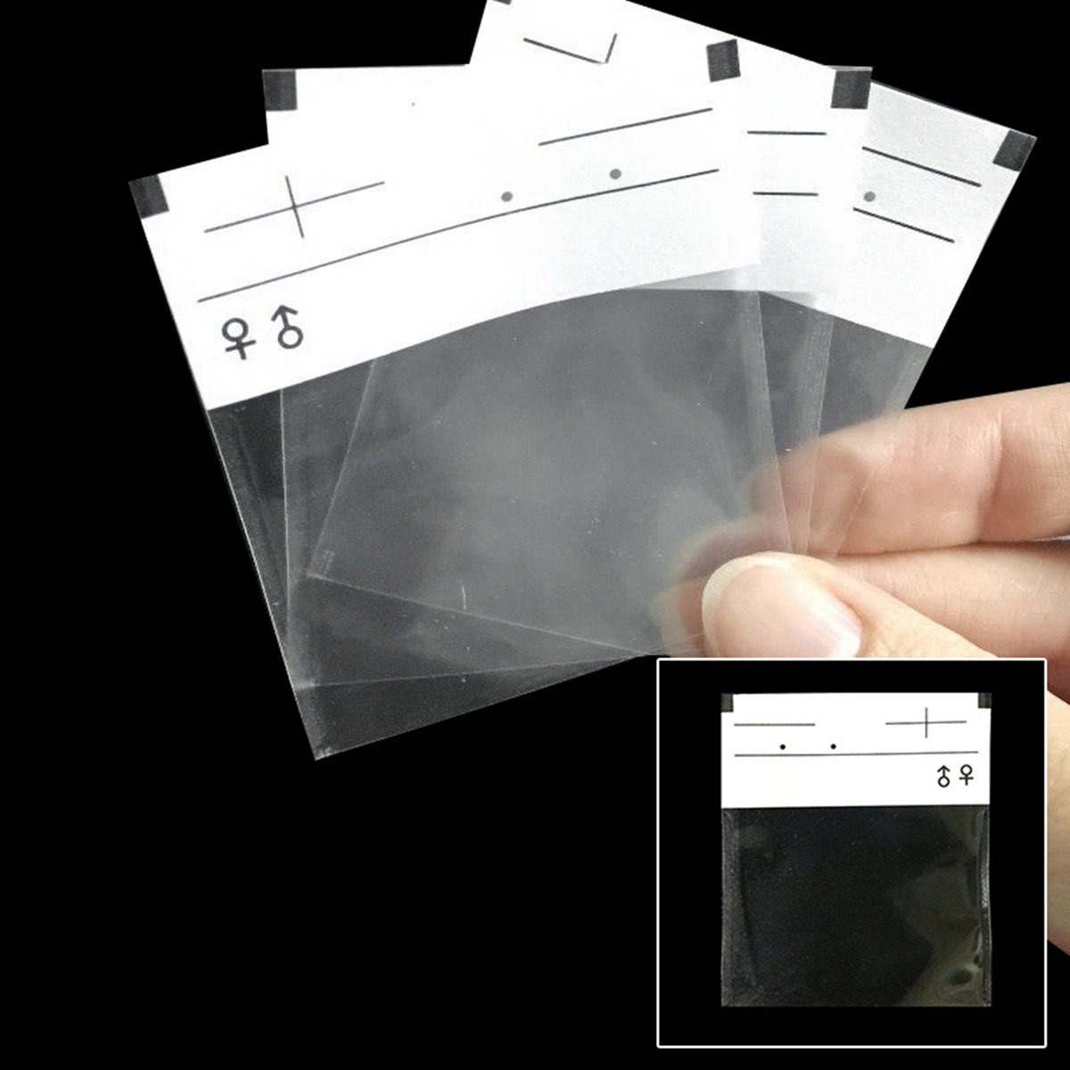 200pcs Dental X-ray Film Mounts Envelope Sleeves Holder