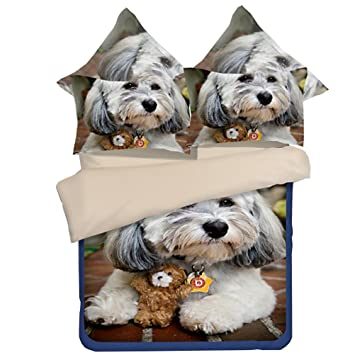 Schnittmuster Hund bedtoppings Bettdecke Bettwäsche 3d Muster 1 ...