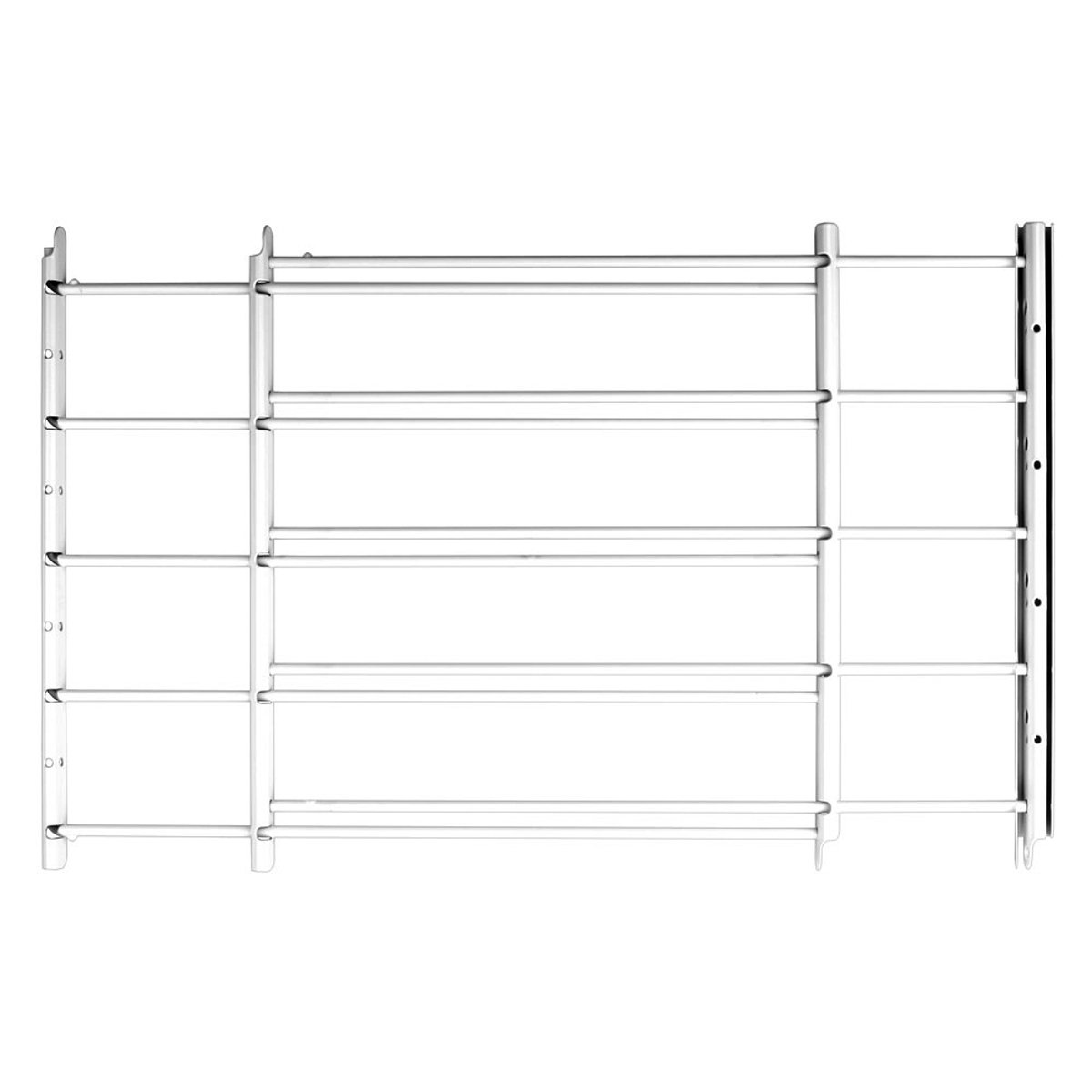 Knape & Vogt John Sterling Swing-Open Style 5-Bar Child Safety Window Guard, White, 1135-