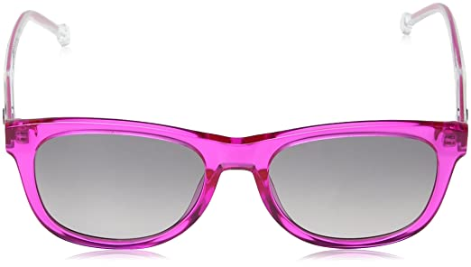 Tommy Hilfiger Unisex-Kinder Sonnenbrille TH 1501/S 9O MU1, Pink (Fuchsia/Grey), 49