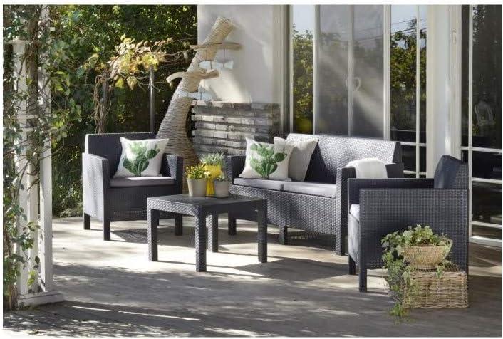 ALLIBERT Salon de Jardin modulable Houston - 4 Places - en ...
