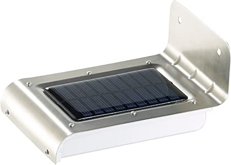 1,5W LED Solar Lampe mit Bewegungsmelder Outdoor Wandleuchte Solarleuchte Akku