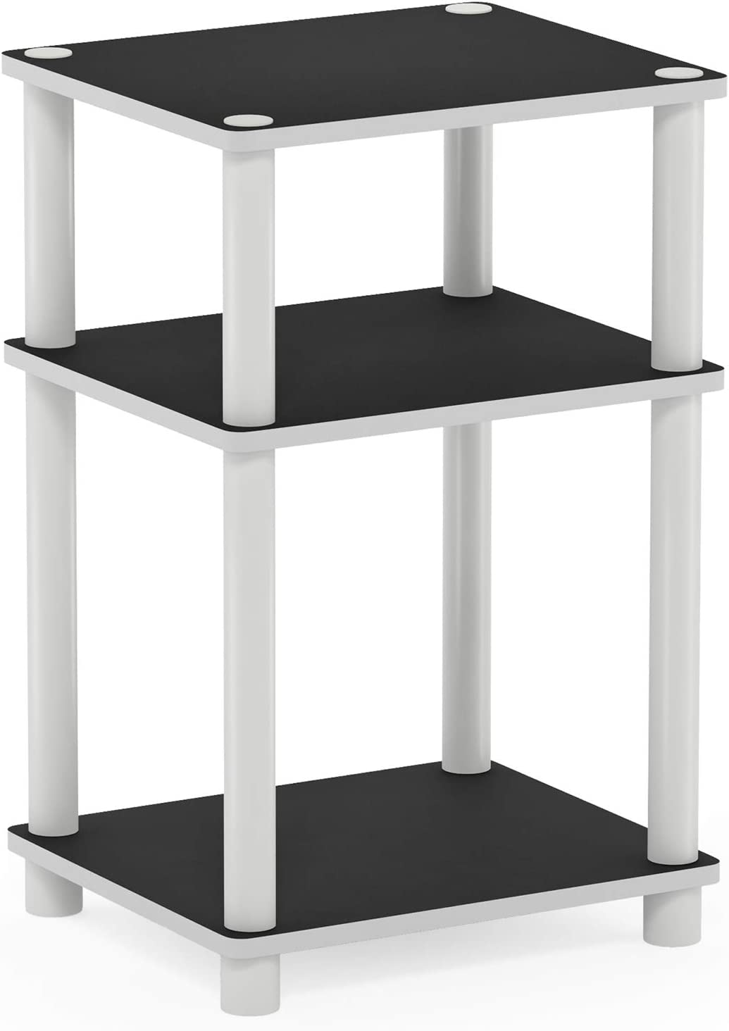 Amazon Com Furinno Just 3 Tier End Table 1 Pack White White 11087wh Ex Wh Furniture Decor