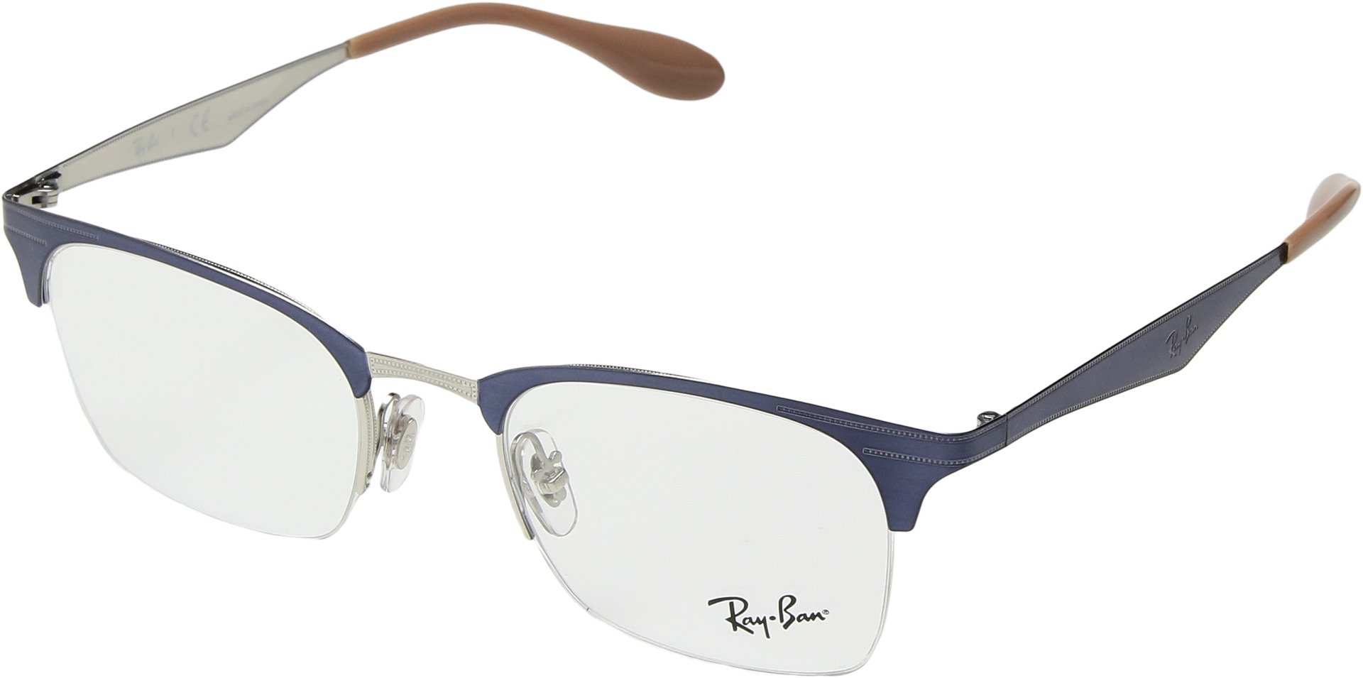 Ray-Ban Unisex 0RX6360 49mm Silver/Violet One Size