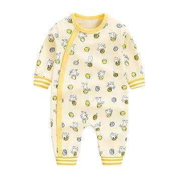 73593892257f5 前開き パジャマ ベビー 女の子 赤ちゃん カバーオール 長袖 薄手 ロンパース かわいい ネコ柄 アニマル 新生児 ルーム