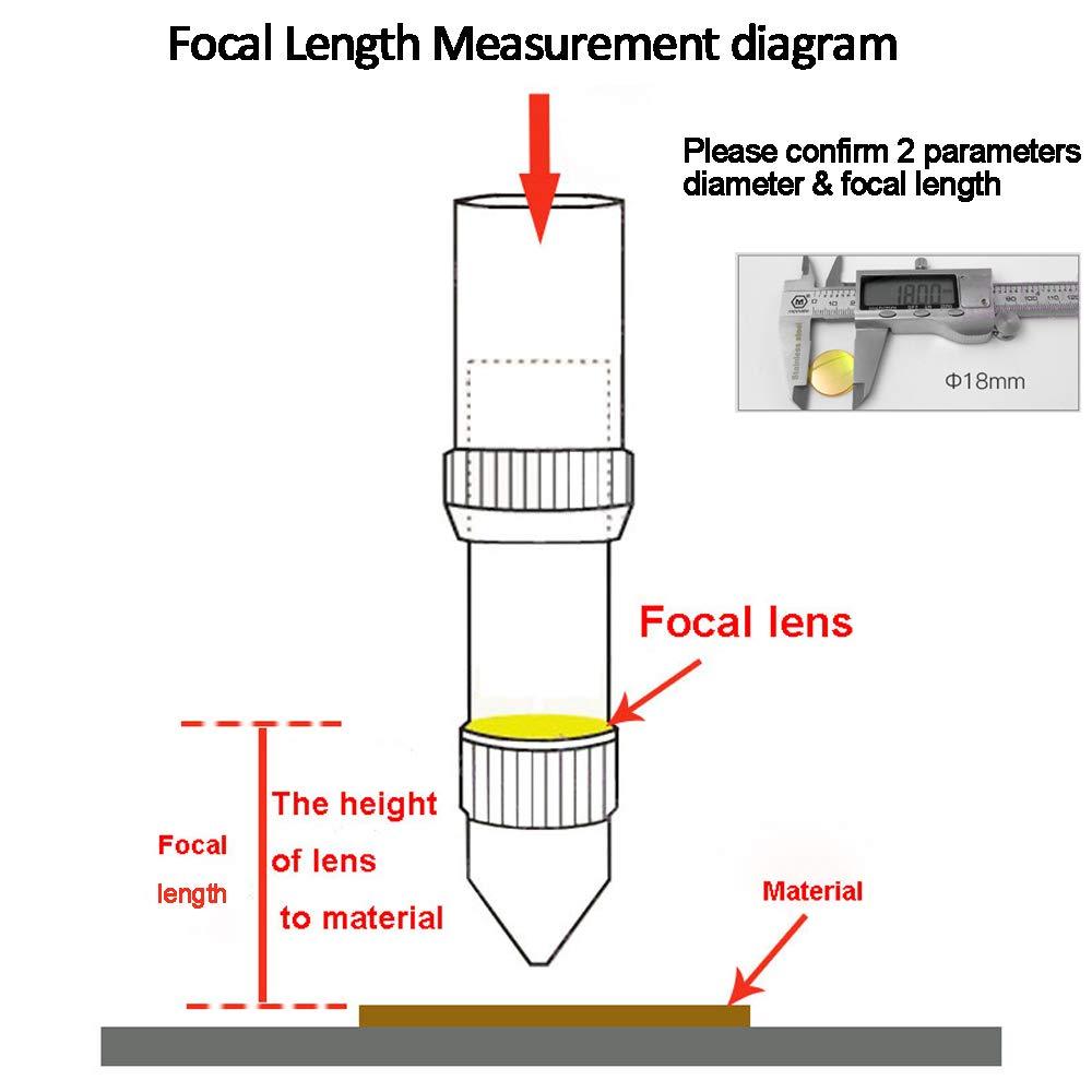 FL 2.5 TEN-HIGH Diameter 18mm Focal Lens for CO2 Laser Cutting engraving machine 2.5//63.5mm