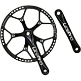 jnp 58T 58 Gear gran diámetro plegable bicicleta Bielas (platos con piñón protetive funda 130BCD