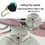 3 Speed Ceiling Fan Switch Zing Ear ZE-268S6, Pull