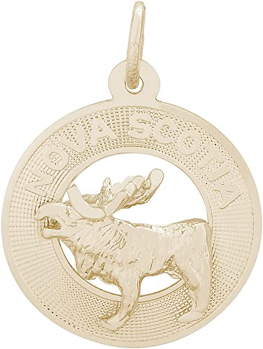 Rembrandt Charms Elk Charm 10K Yellow Gold