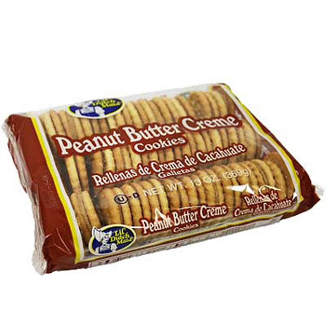(Pack of 12) Lil Dutch Maid Crème Cookies Peanut Butter, Sandwich Cookies, 13oz