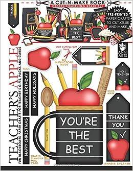 teacher s apple cut n make book fun blackboard paper crafts for