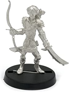 Stonehaven Elf Ranger Miniature Figure (for 28mm Scale Table Top War Games) - Made in USA