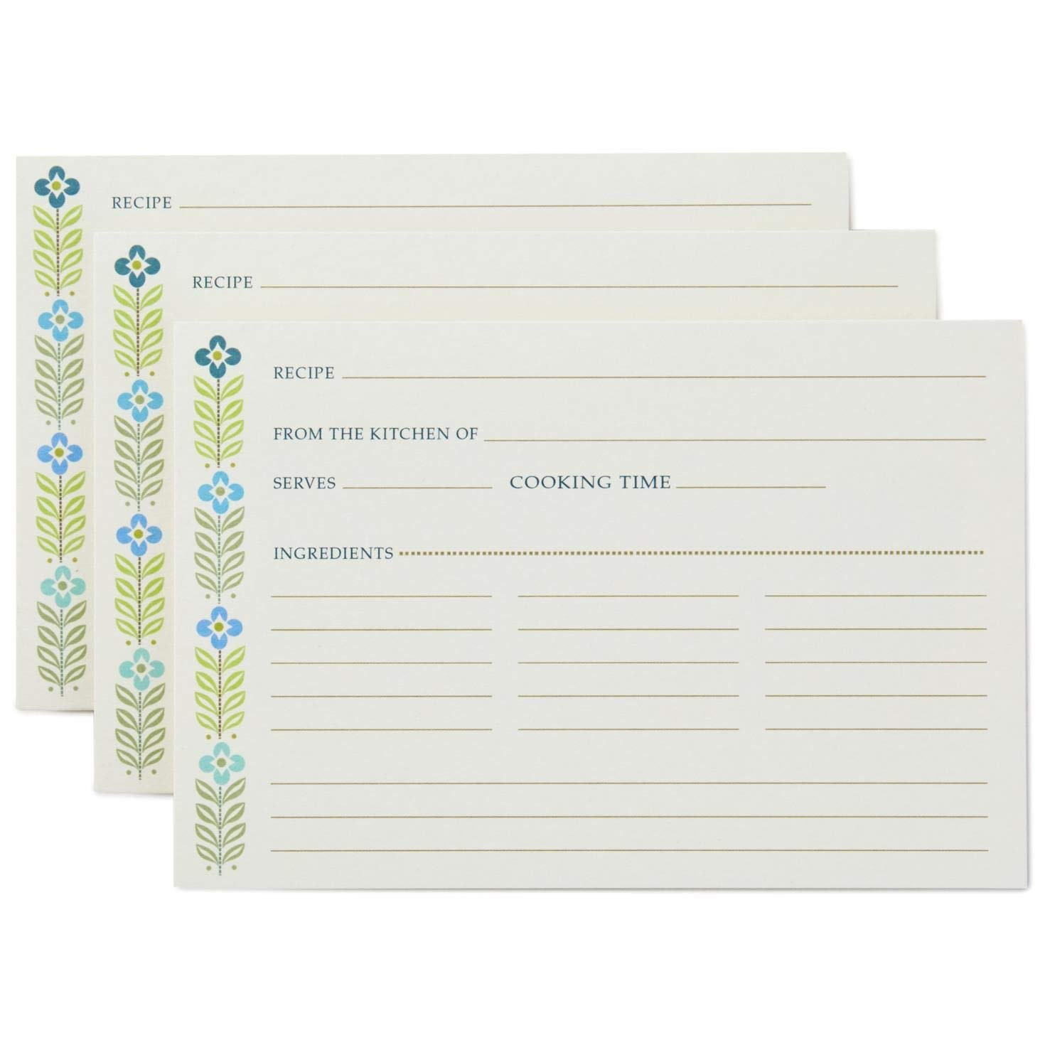 Mid-Century Modern Recipe Cards Recipe Organizers