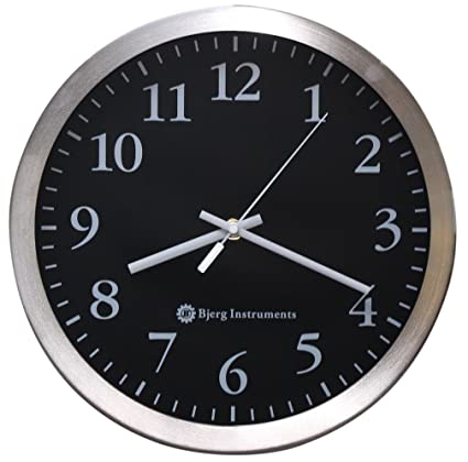 Modern 12u0026quot; Stainless Silent Wall Clock With Non Ticking Quiet And  Accurate Movement   Bjerg